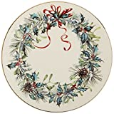 Lenox Winter Greetings Plaid Butter Plate,Ivory, Gold