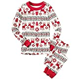 HEMAY Christmas Family Matching Pajamas Set Sleepwear for Mom Dad Kid Infant Fashion Nightwear (2T, Kid)