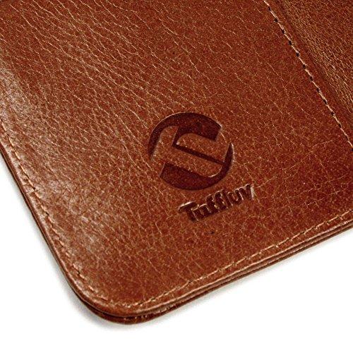 Tuff-Luv Vintage Personalisierte Tasche Hülle (z.B Ihr Name, andere Name, Inschrift) Ledertasche für Apple iPhone 6s (inkl Displayschutz) - braun