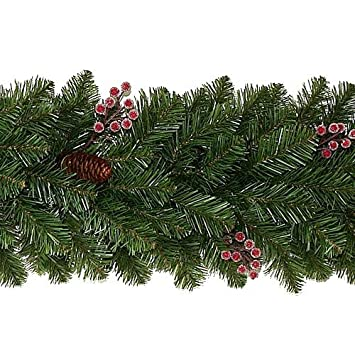 Pine Cone & Berry Artificial Christmas Garland 9ft (2.74m) for ...