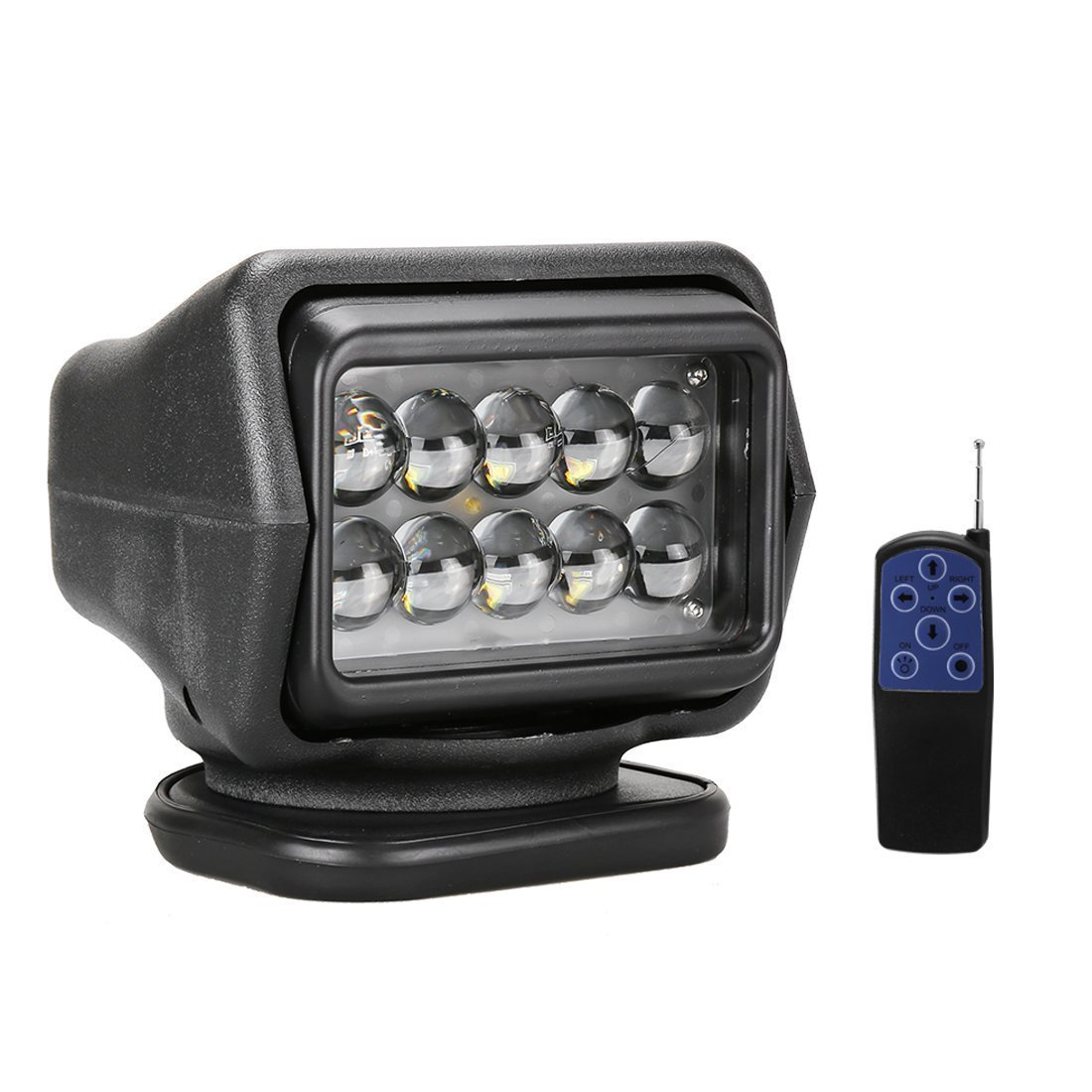 LED Rotating Remote Control Search Light 50W 12-24V 360/º Cree Working Light Emergency Lighting Construction Lighting For Boat Offroad Car SUV Camping Garden