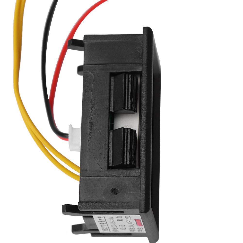 VEADK Horloge de voiture Horloges /électroniques de voiture automobile montres horloge daffichage /à LED de voiture horloge num/érique de tableau de bord de moto noir