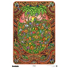 "The Original DoodleArt by PlaSmart - Jungle Adult Coloring 24""x 34"" Poster & Non- Toxic  Precision 12 Marker Set, Reduce Stress, Ages 8 and Up"