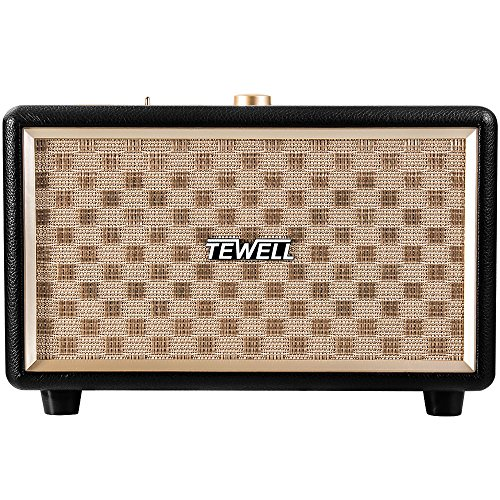 TEWELL RetroRock AC Powered Bluetooth Speakers with 24W Audio Output and Enhanced Bass for Echo / Echo Dot / Phone / Tablet etc