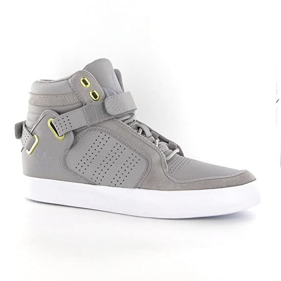 conjunto aislamiento Oferta  Adidas Adi Rise Mid Grey Leather Mens Trainers Size 8 UK