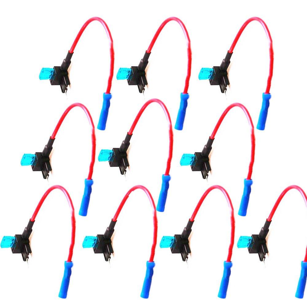Supmico 10 x automobile 12v aggiungere un adattatore TAP fusibile di stile lama spina portafusibile circuito ACN
