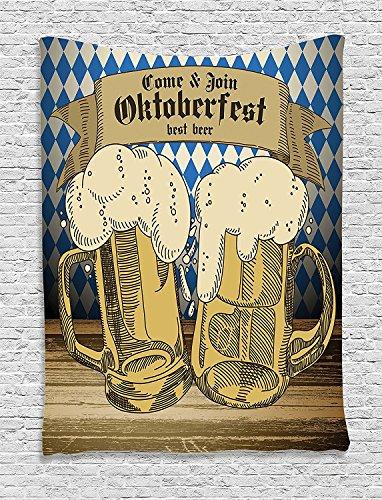 [Festival Collection Oktoberfest Design Famous Costume Tourist Attraction Travel Destination Blue Beige Supersoft Throw Fleece Blanket] (Oktoberfest Costumes Australia)