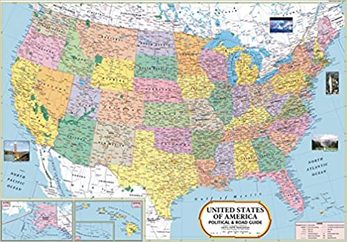 Buy USA Map Book Online At Low Prices In India USA Map Reviews - Usa map buy