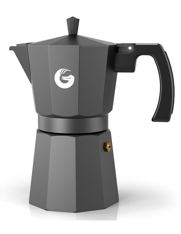 Amazon.com: Cafetera Gator 6 tazas de aluminio con 2 tazas ...