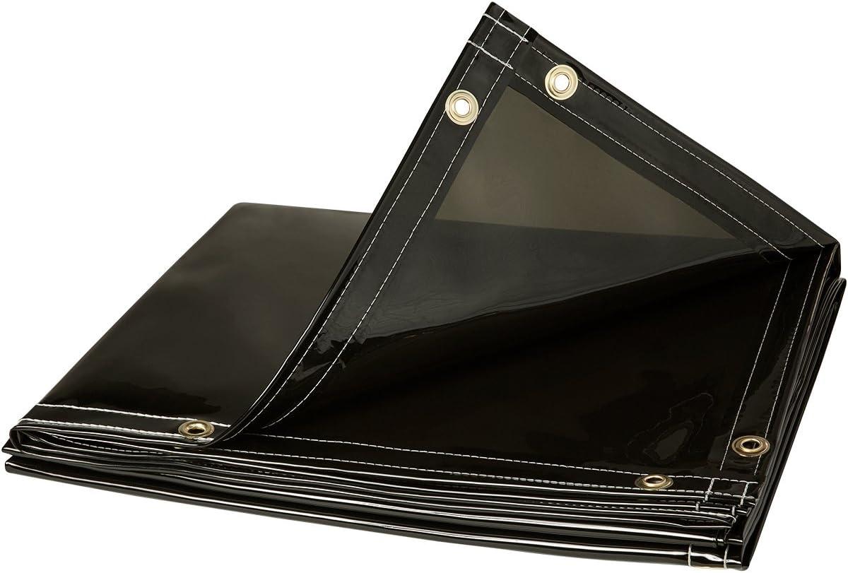 Steiner 332-6X8 Arcview 14 Mil Flame Retardant Tinted Transparent Vinyl Welding Curtain, Smoke Gray, 6' x 8'