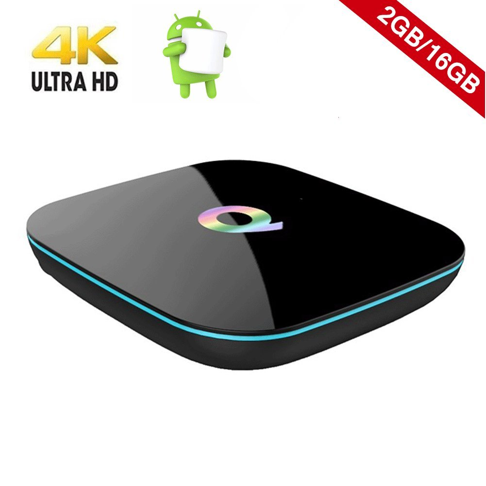 Android TV BOX - COOLEAD Q Box Mini Box Android 5.1 Amlogic S905X Quad Core 4K Ultra HD 2G RAM / 16G ROM Bluetooth 4.0 Wifi Dual Chanel by COOLEAD
