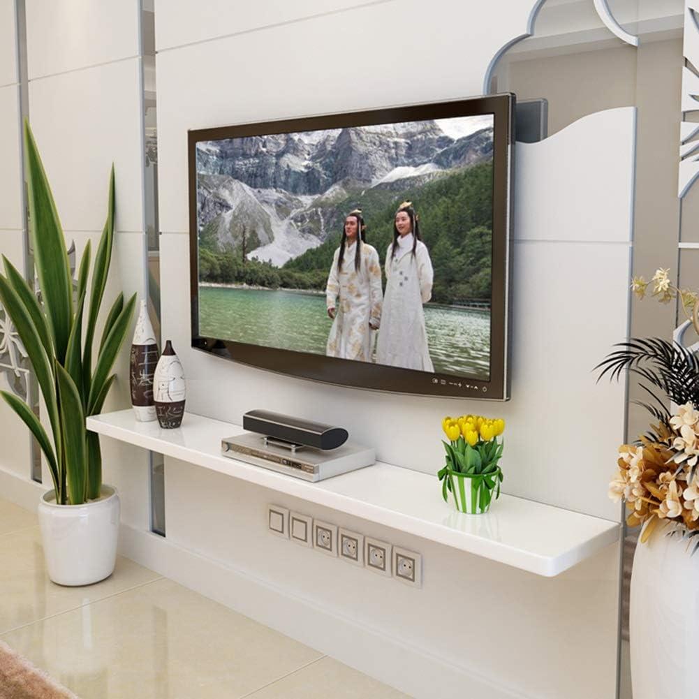 ChangDe CHDE Decoración de Pared Reja Flotante Fijo Cuboid Design TV Fondo de la Pared Set-Top Box Unidad de Almacenamiento Multiuso, 2 Colores, 4 tamaños Estante (Color : B, Size : 100 *