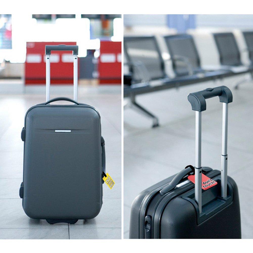 3 Pcs SwirlColor /Étiquettes de Bagage en PVC /Étiquettes de Bagage dr/ôle de Mots de Valise Random Delivery