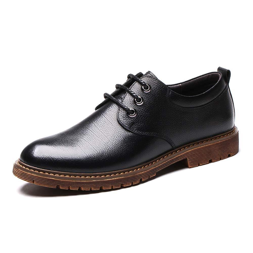 LXLA-   Herren Business Casual Leder Formale Kleid Schuhe Für Männer Formale Leder Hochzeit Bequeme Loafers (Farbe : SCHWARZ, größe : 6.5 US/5.5 UK) Schwarz 833e9e