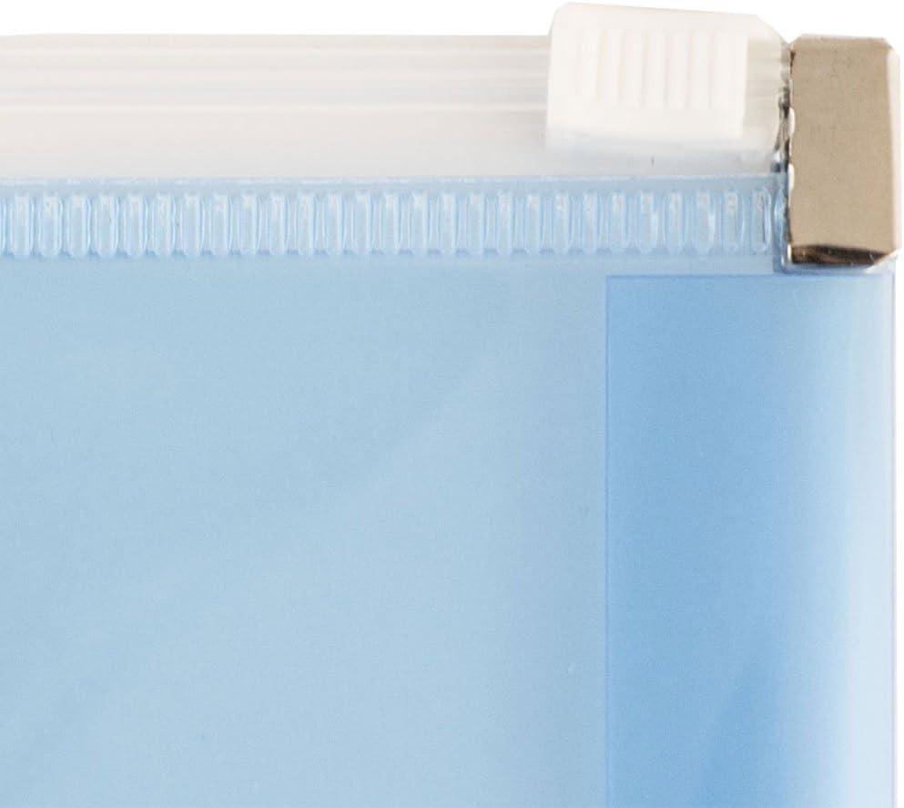 12//Confezione Libretto 247,6 x 330,2 mm JAM PAPER Buste per Inviti in Plastica con Chiusura a Cerniera Trasparente