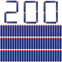 Yosoo 200pcs 7.2cm Darts Refill Bullets Soft Foam Toy Darts for Nerf N-strike Elite Zombie Strike Rebelle Rampage Retaliator Blasters Guns(Blue)