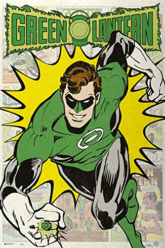The Green Lantern - Dc Comics Poster / Print Retro Style - Comic Scenes