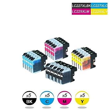 DOREE 20-Pack Brother LC227XL / LC225XL Cartuchos de Tinta ...
