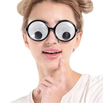 amazon com d o t funny party glasses googly eyes goggles shaking