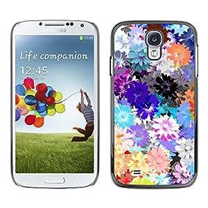 For SAMSUNG Galaxy S4 IV / i9500 / i9515 / i9505G / SGH-i337 Case , Spring Pattern Flowers Spring Daisy - Diseño Patrón Teléfono Caso Cubierta Case Bumper Duro Protección Case Cover Funda