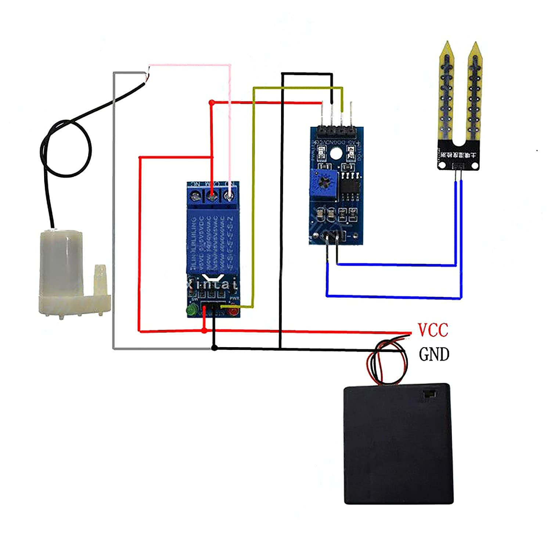 Gikfun Soil Moisture Sensor kit darrosage Automatique System Manager Mini Pompe /à Eau de Jardin Arduino DIY Kit Ek1915u