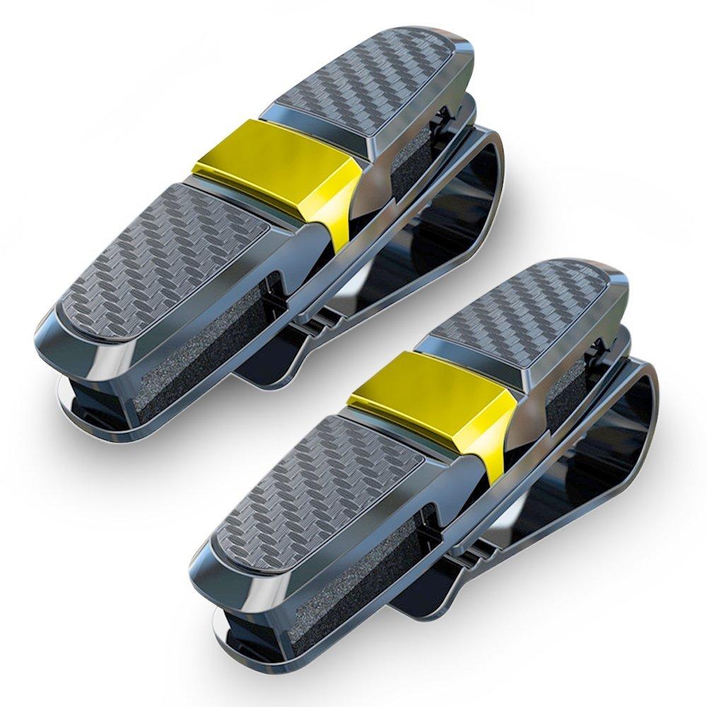 homEdge Clip per parasole clip per occhiali da sole per auto supporto per gancio per occhiali con clip per carda confezione da 2 occhiali da sole Supporto per visiera parasole per auto