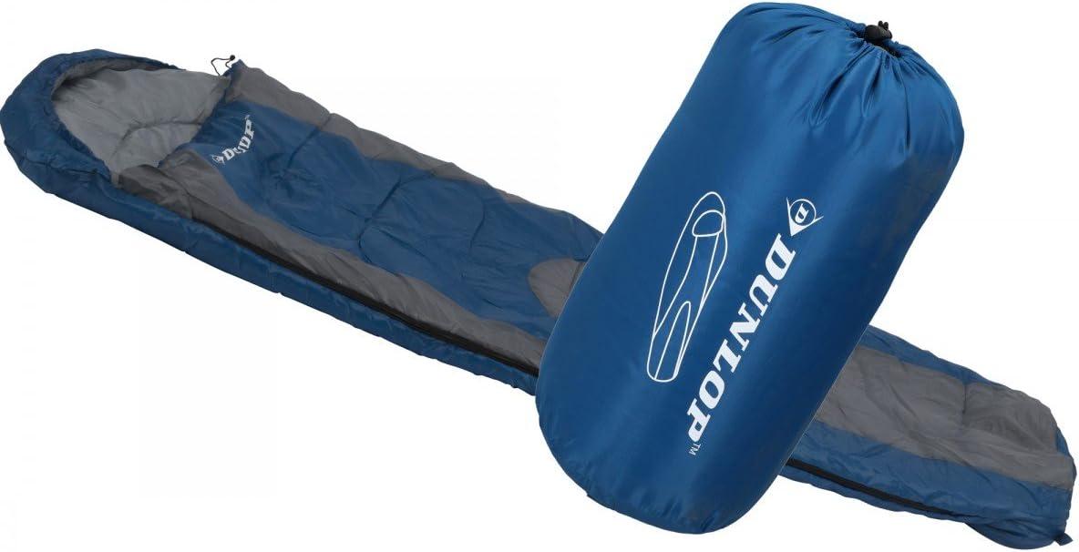 Dunlop Mummy Saco de Dormir, Azul/Gris, 210 x 80 x 50 cm: Amazon ...