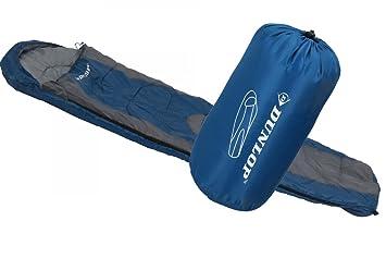 Dunlop Mummy Saco de Dormir, Azul/Gris, 210 x 80 x 50 cm: Amazon.es: Deportes y aire libre