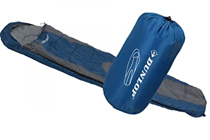Dunlop Mummy Saco de Dormir, Azul/Gris, 210 x 80 x 50 cm