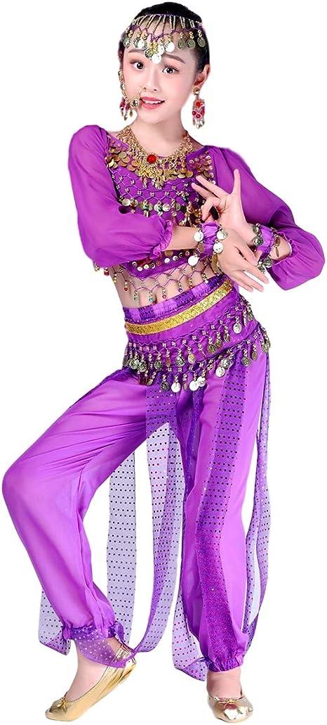 Grouptap Bollywood Indio niños niñas bharatanatyam Manga Larga ...