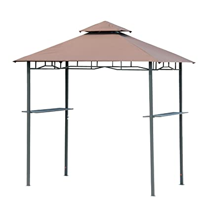Outsunny Outdoor 2-Tier BBQ Grill Canopy Tent, 8-Feet