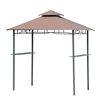outsunny outdoor 2tier bbq grill canopy tent 8feet
