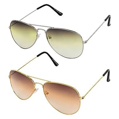 5b46dc01fe Sheomy Aviator   Wayfarer Unisex Sunglasses Combo of 2 (SUN-0000009 ...