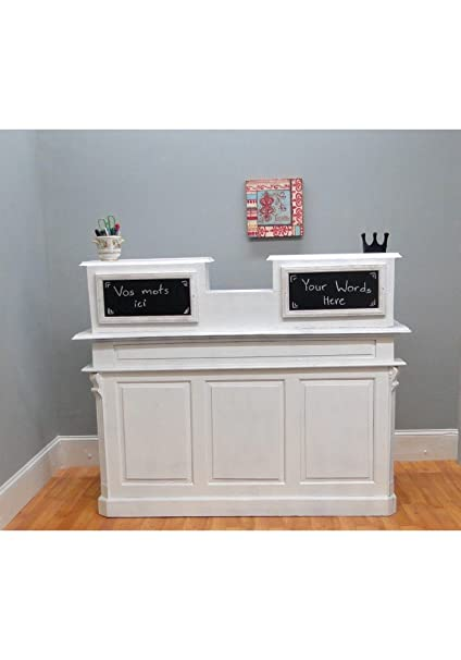 Cottage Chic Antique Painted White Store Counter, French Restaurant Desk, Reception  Desk - Amazon.com: Cottage Chic Antique Painted White Store Counter, French