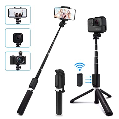 e36e336c0e1193 SYOSIN Selfie Stick Tripod with Bluetooth Remote, 4 in 1 Camera Monopod &  Phone Stand