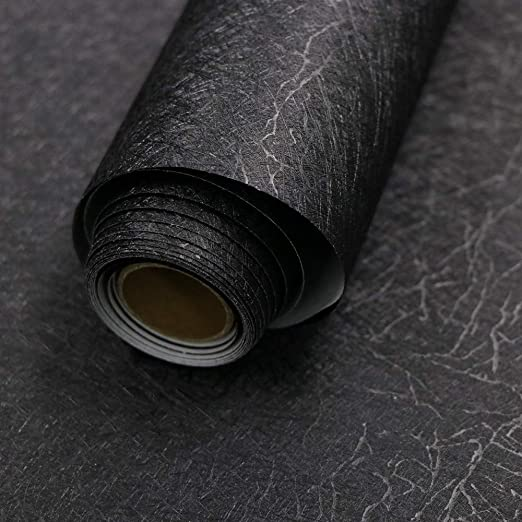 Amazon Com 15 7 X 118 Black Silk Wallpaper Embossed Self Adhesive Peel And Stick Wallpaper Removable Kitchen Wallpaper Vinyl Black Wallpaper Cabinet Furniture Countertop Shelf Paper Textured Wallpaper Home Kitchen