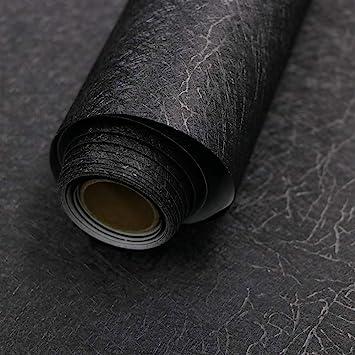 Black Silk Wallpaper Embossed Self Adhesive Peel and Stick
