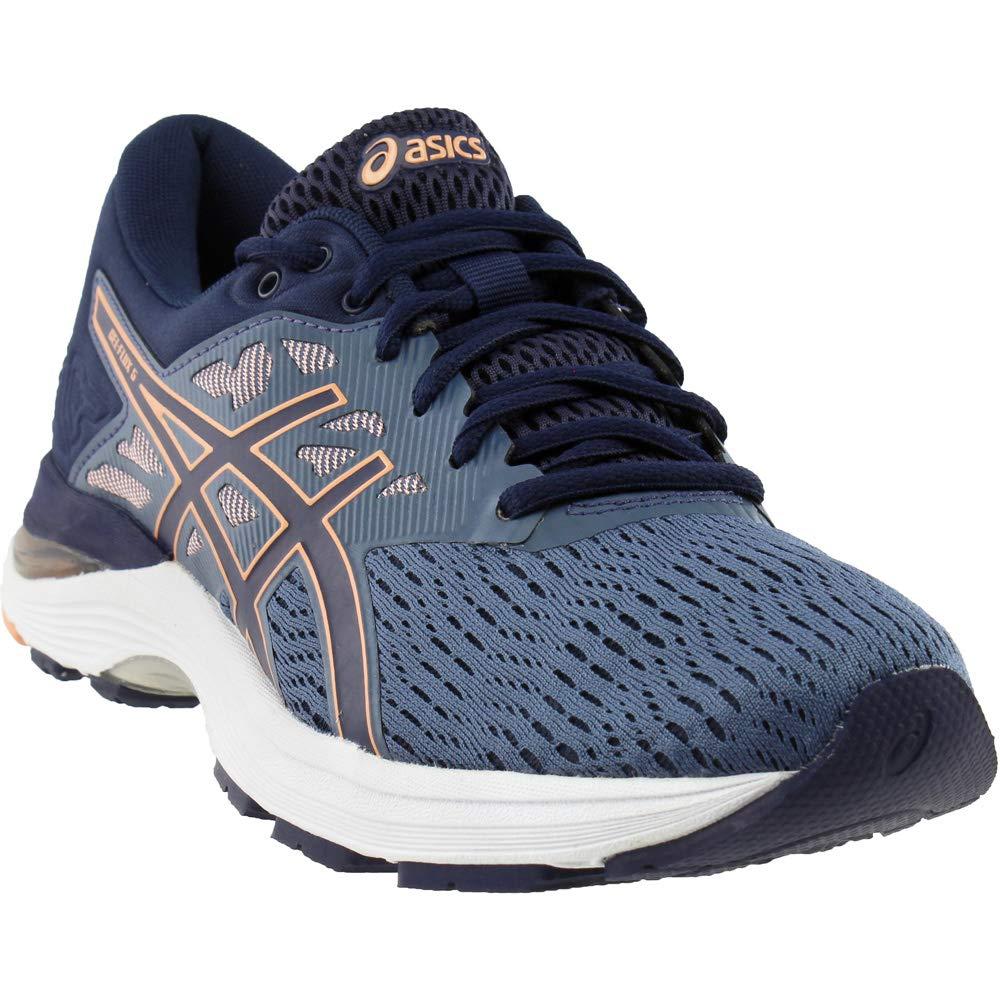 ASICS Womens Gel-Flux 5 Running Shoe, Blue/Canteloupe/Peacoat, Size 5.5