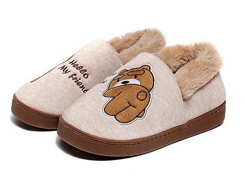 Lindo Unisex Niños Zapatillas de Estar por Casa Invierno Zapatillas Interior Casa Caliente Zapatos Suave Algodón Pantuflas: Amazon.es: Zapatos y ...