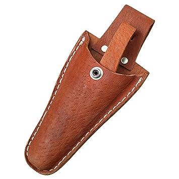 HANSHI Marrón funda de cuero herramienta Holsters cinturón Holster bolsa de soporte para alicates, tijeras de podar, tijeras, paleta, cuchillo de ...