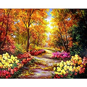 Paint by Numbers for Adults,DIY Acrylic Painting by Numbers Kit for Adults Kids by TOCARE,Landscape Pattern 16x20inch