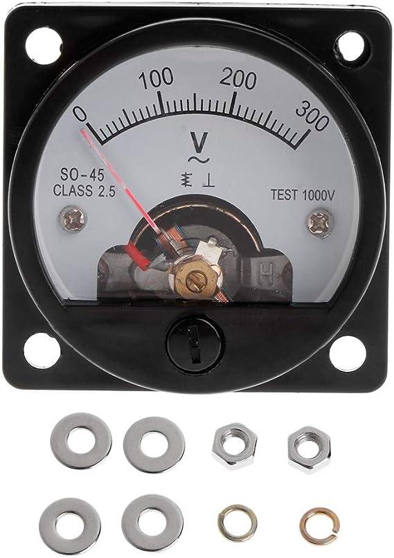 Anjuley So 45 Voltmeter 0 300 V Zifferblatt Analog Rund Meter Voltmeter Küche Haushalt