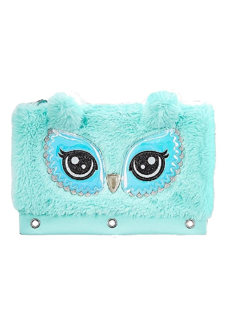 Justice for Girls Fur Owl Binder Pencil Case Pouch