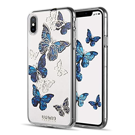 timeless design d6e2b f624f LUXMO PREMIUM Case for iPhone Xs iPhone X, Crystal Clear TPU Fashion Slim  Fit Protective Bumper Case Cover for Apple iPhone X/XS 5.8 inch (2018 ...