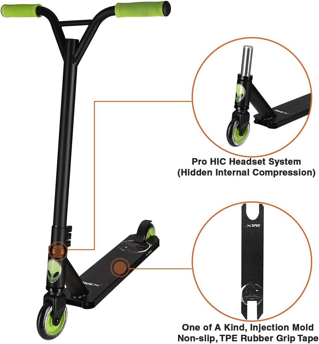Amazon.com: xspec Pro Stunt – Patinete con fuerte cubierta ...