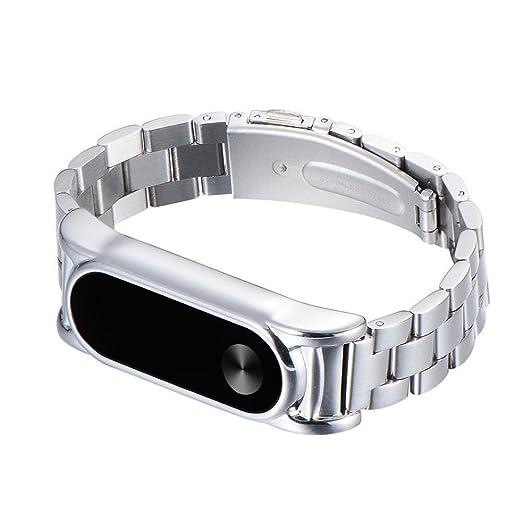 Pulseras metal Xiaomi Miband 2,Pulsera de acero inoxidable Correa de reloj metal ultrafina para Xiaomi Mi Band 2 Barato por VENMO