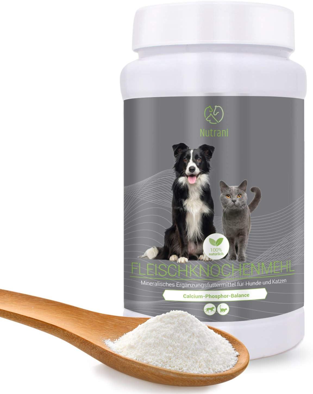 Nutrani Harina de hueso de carne para perros y gatos | 1 kg – 100% natural y pura harina de hueso para fortalecer huesos y articulaciones y ...