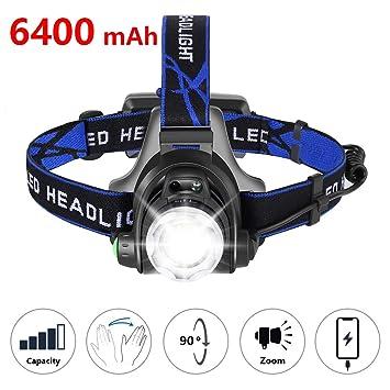 Wasserdicht LED USB Scheinwerfer Stirnlampe Lampen Kopflampe 18650 Akku