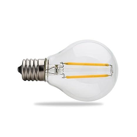Replacement Bulbs For String Lights Impressive Amazon WEANAS 60 X E60 G60 LED Filament Bulbs AC 60V 60W Globe