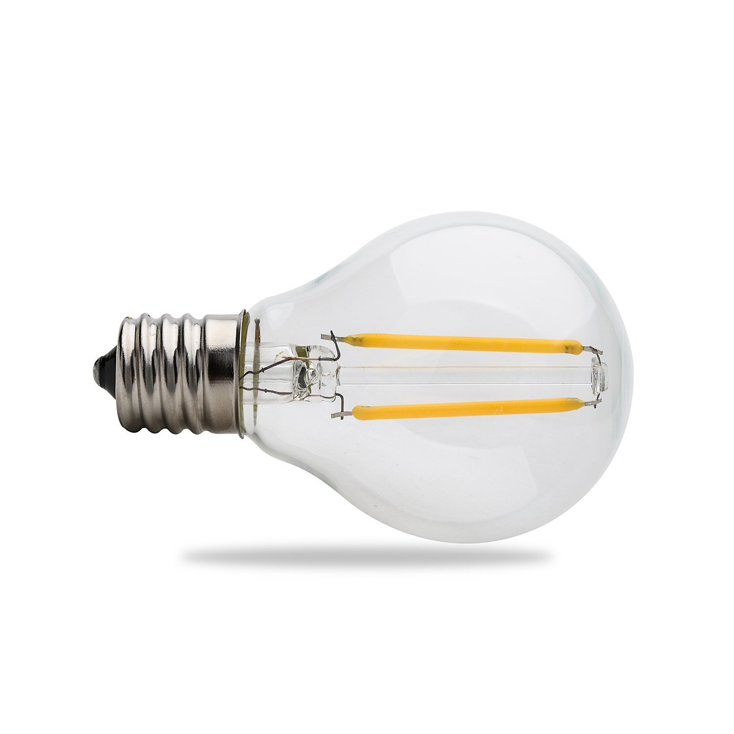 WEANAS 8 x E17 G45 LED Filament Bulbs AC 110V 2W, Globe String Lights Replacement Bulbs by Weanas